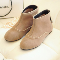 2013 autumn genuine leather handsome little boots flat comfortable casual hasp nubuck leather martin boots