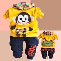 Children's clothing 2013 baby autumn male child spring and autumn set child little boy clothing clothes 2 - 3 - 4