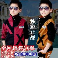 2013 autumn children's clothing male child sports set twinset child casual sportswear