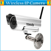 Wireless/Wired IP Cam Outdoor/Indoor Waterproof CCTV Home Surveillance Security IR Bullet Security wifi Camera with Day Night