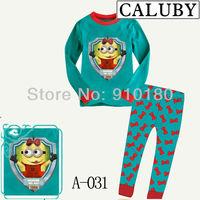 New arrivals 6 sets/lot baby girls Cartoon minion Pajamas kids cute pyjamas children's clothes set/sleepwear/homewear