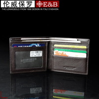 Wallet male short design genuine leather cowhide horizontal wallet vertical wallet