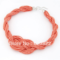 Fashion Jewelry 2013 New Fashion Metal Chain Choke Statement Weaving Necklace Jewelry Gift For Women Hot