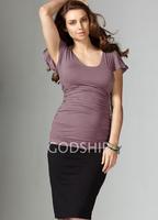 Fashion Maternity Top Ruffle Sleeve Comfortable Nursing T-shirt M-0144