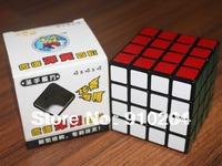 Free shipping ! Shengshou magic cube 4x4x4 speed cube puzzle,cheapcube, black