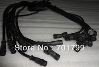 BLACK 1.5m(5feet) 4 core waterproof extension cable,one end with male,the other end with female,male connector's diameter:13.5mm