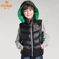 Doli children's clothing 2013 belt with a hood thickening vest medium-large male child thermal outdoor vest outerwear