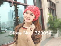 Free shipping (1pcs) The new winter 2013 South Korea version of knitted cap Lovely and warm hat of the woman  scarf 6 color