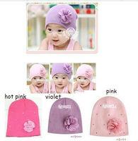 """New Baby girls Hat COTTON BEANIE CAPS NEWBORN INFANT BABY Hat """" flower"""" H7"""