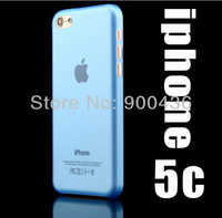 NEW 20pcs/lot ultra thin 0.3MM back cover case for iphone5C PP material matte surface back free shipping