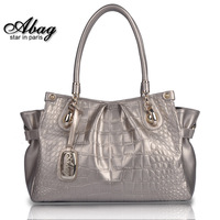 Limited edition 2014 crocodile pattern one shoulder women's handbag cowhide women's bag