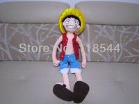 84cm plush luffy plush toy One-piece toy luffy Anime One Piece soft toys stuffed toys one piece free shipping