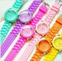 Candy geneva neon silica gel electronic watch lovers design sports watch