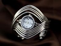 Handmade fashion jewelry bracelet alloy women's watch fashion large digital punk vintage watch