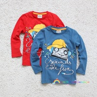 2013 autumn radio cotton 100% cotton boys handsome children's child clothing long-sleeve T-shirt 90 - 125