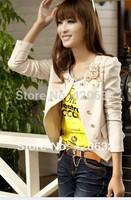 2014 autumn WOMEN coat blazer women's slim long-sleeve short jacket blazer girls designer blouse hot top one piece retail