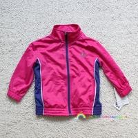 Autumn new arrival female child small running sports outerwear zipper outerwear 1 - 7