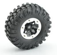 "RC Axial SCX10 RC4WD Tamiya Rock crawler 1.9"" beadlocks Wheels &Tires (4) 108MM"