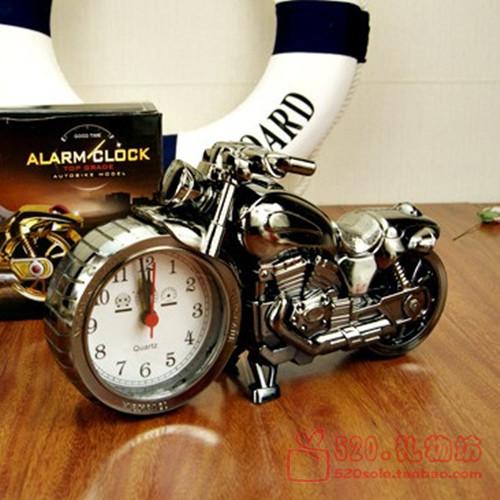 Fashion Motorcycle Shape Alarm Clock Vintage Cool Cars