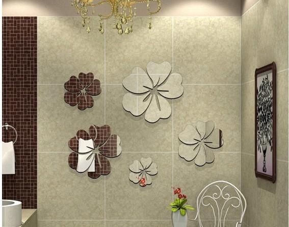 3d diy mirror wall clocks vintage bedroom wall art decor - Bricolage maison deco ...