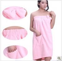 Min Order $15(mixed order)  Sexy spaghetti strap bathrobes bow ultrafine fiber bath towel NRT4414