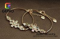 GN B025 Italina18K Gold Plated ladies temperament model cute flower bracelet Made with Genuine SWA ELEMENTS Austria Crystals