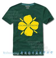 Dj t-shirt wire mesh leir male Women 100% cotton short-sleeve