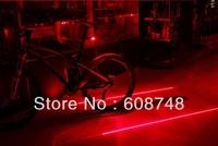 Bicycle Laser Tail Light Water Resistant 2 Laser 7 Modes Mountain Bike Safety warning Back Rear Led Red Light Flashlight Lamp