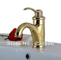 Free Shipping Antique Classic Golden Bathroom Sink Gold Faucet Basin Mixer Sanitary Ware Tap Bathroom torneira benheiro