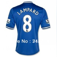 NEW arrival 13/14 top Thailand Quality Chelsea Home Blue #8 LAMPARD Soccer Jersey Football jersey With Premier League patches