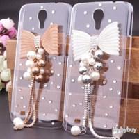 Cute 3D Bowknot Bow Bling Diamond Case For Samsung Galaxy Mega 6.3 i9200