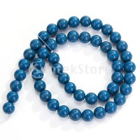 Free Shipping 8mm Natural Blue Coral Round Loose Beads Strand 16 Inch