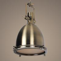Free shipping vintage Loft Heavy metal  brass pendant light