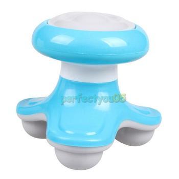 Mini USB Electric Handled Wave Vibrating Massager Full Body Massage Blue PY5#