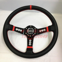 Carbon fiber sparco steering wheel modified car steering wheel sparco automobile race carbon fiber cloth steering wheel