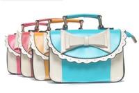 Hot New 2013 Fashion Women's Personalized Fashion Handbags Shoulder Bag Simple Bow women bags b50