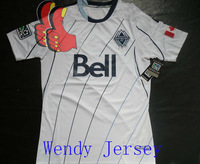 A+++ Top Thailand Quality New 13/14 Season Vancouver Whitecaps Home White Fans Version Soccer Jersey Football Kit Sports Shirt