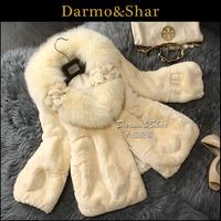 Free shipping Fur women's rex rabbit hair fur coat short design 2013 fox fur