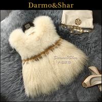 Free shipping Full leather fox fur vest female short design wool vest fur coat 2013
