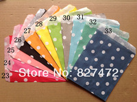 125Pcs small Polka Dot Glassine Paper Bag - 11 Colors Available B-day wedding BBQ party tablewear  gift decoration