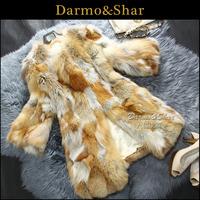 Free shipping Fur female fox fur coat overcoat medium-long 2013 fur