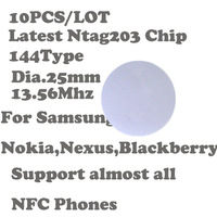 10pcs/ Lot 144 Universal NFC sticker,RFID Tag/sticker for Sony,Nokia,Nexus, For Samsung S3 S4