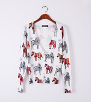 New arrival Love best! Small Lovely Zebra Animal printing Slim casual style All-match super large size sweater WS-015