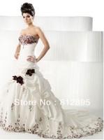 High Quality!   White Ball Gown Wedding Dresses Wedding Attire Dresses Pageant Dress Custom Made Size 2-10 12-20 JLW923337