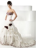 High Quality!   White Ball Gown Wedding Dresses Wedding Attire Dresses Pageant Dress Custom Made Size 2-10 12-20 JLW923337