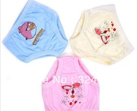 5pcs/lot Freeshipping  Cartoon Cute Animals Design 100%Cotton Children's Unisex  Panties  Underwear for baby girls and boys