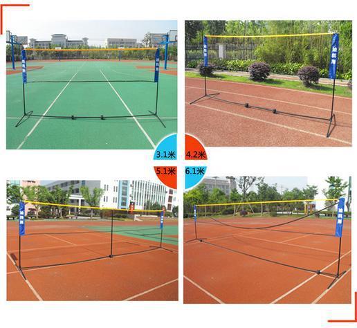 6.1M Portable Folding Badminton Net International Standard Double Training Badminton Net Post Indoor Fitness Sport Free Shipping(China (Mainland))