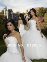 High Quality!  White Ball Gown Wedding Dresses Wedding Attire Dresses Pageant Dress Custom Made Size 2-10 12-20 JLW923332