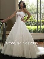 High Quality!   White Ball Gown Wedding Dresses Wedding Attire Dresses Pageant Dress Custom Made Size 2-10 12-20 JLW923341