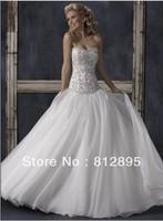 High Quality!   White Ball Gown Wedding Dresses Wedding Attire Dresses Pageant Dress Custom Made Size 2-10 12-20 JLW923339